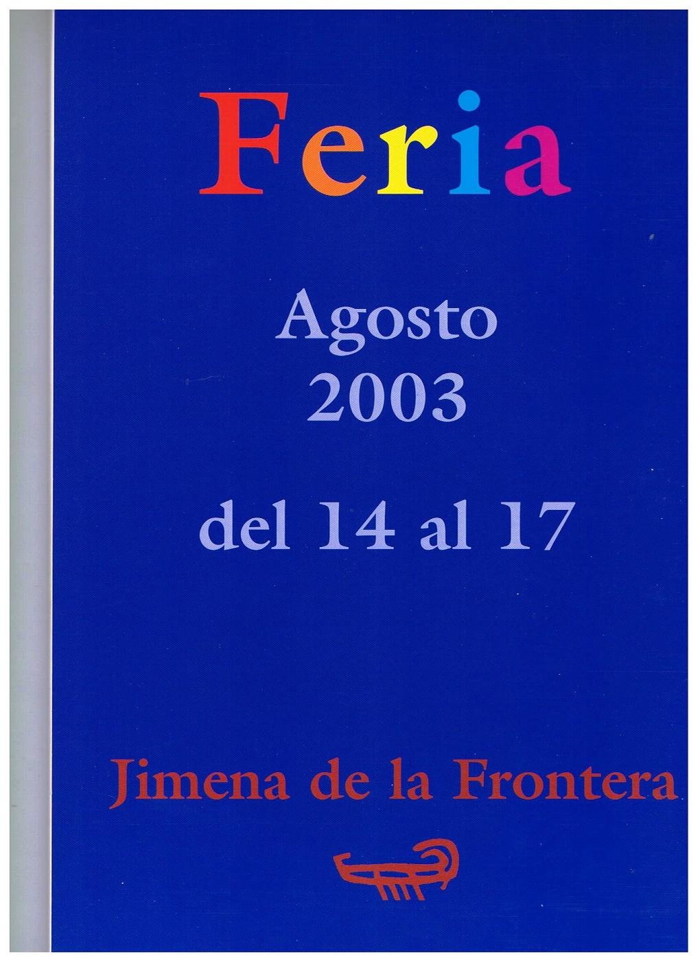 Libreto oficial de la feria 2003.