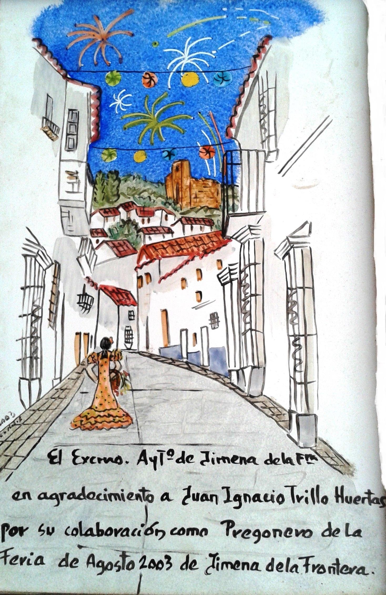 Placa en conmemoración del pregón que me fue regalado por el Ayuntamiento y que refleja la calle San Sebastián donde nací. Fuente propia.
