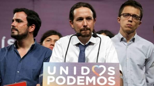 Noche electoral, 26-J. Pablo Iglesias reconociendo el pinchazo de la Coalición Unidos Podemos
