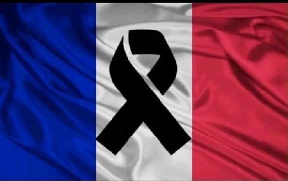 francia de luto bandera