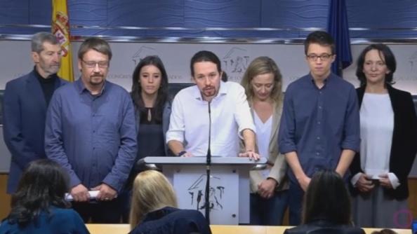 Entre las sobreactuaciones, Pablo Iglesias presentando a sus ministrables. 22.01.2016