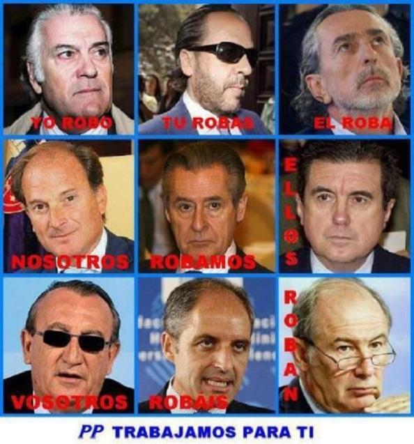 El PP y su Gürtel que trabajó para la financiación ilegal y para los bolsillos de sus dirigentes.