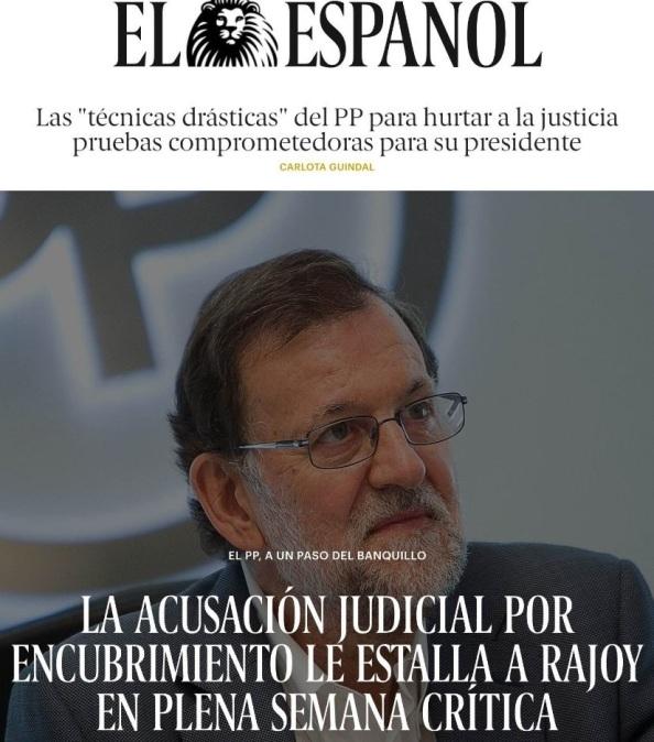 Cada día, un escándalo más asola al PP y a Rajoy