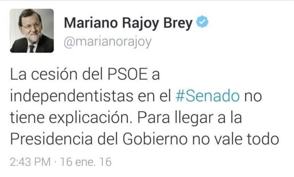 La sinvergonzanería y desfachtez de Rajoy. Da igual. no pasa nada.