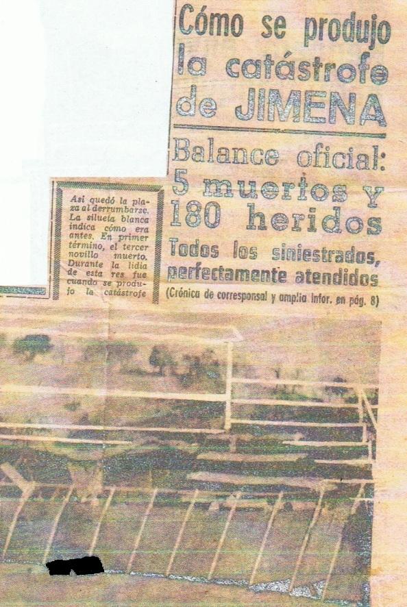 plaza de toros jimena hijo cartero Juan Antonio Gómez Moreno