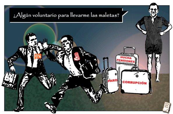 Rajoy y los pretendidos mozos que desea como aliados para portarle sus políticas