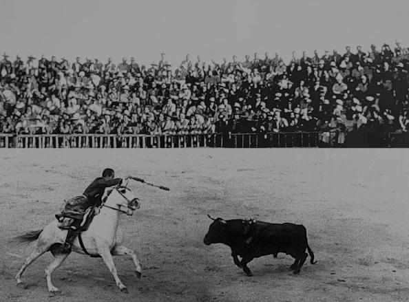 rejoneador con tendido plaza de toros alcalá la real