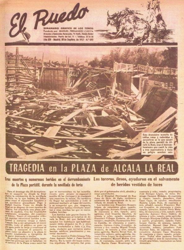 revista el ruedo alcalá la real plaza de toros 26.09.1957