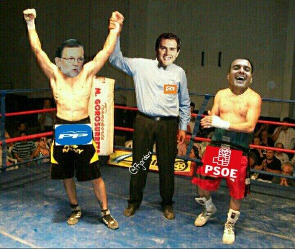 Rivera trabaja ya para hacerle el trabajo sucio a Rajoy contra Pedro Sánchez, su aliado hasta hace días.