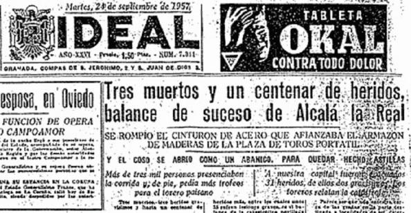"""El diario """"Ideal"""" de Granada, al día siguiente"""