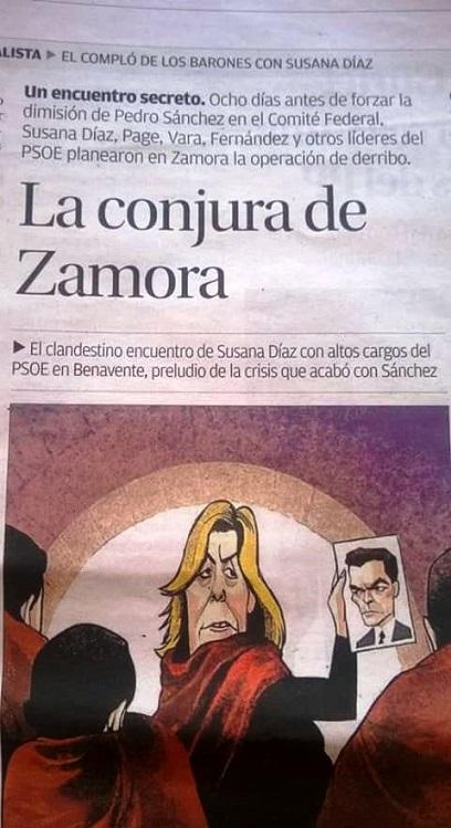 Todo estaba programado para la traición y el derribo a Pedro Sánchez a través de un Golpe. Zamora era lo que la Cafetería Galaxia del 23-F