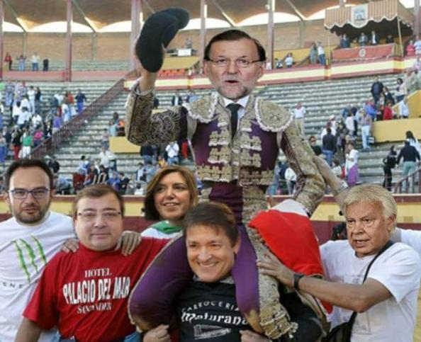 La abstención es sacar al amparador de coruuptos Mariano Rajoy a hombros