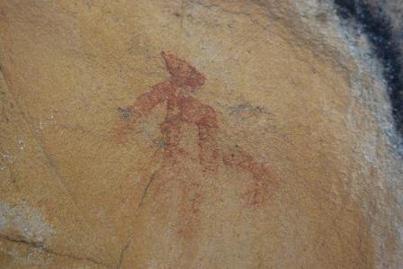 Pintura rupestre existente eb la Cueva del Maquis de Castellar