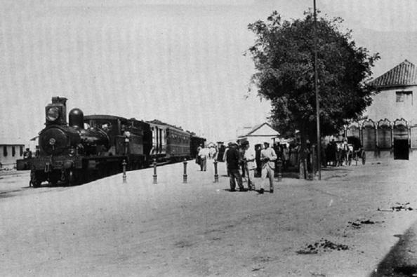 La Estación de tren de Algeciras de donde partió en 1980 el primer tren para inaugurar la línea férrea de Algeciras a Jimena de la frontera.
