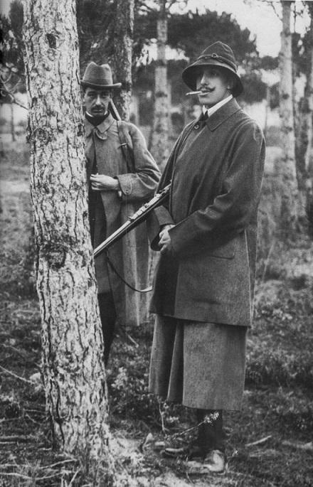 El rey Alfonso XIII de cacería.