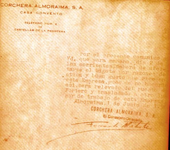 Escrito del administrador del Duquesado de Medinaceli al empleado