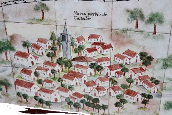 Mosaico del nuevo pueblo de Castellar