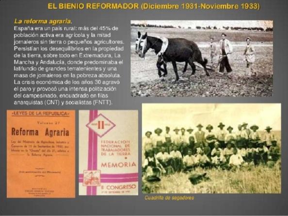 La Reforma Agraria bajo la IIª República
