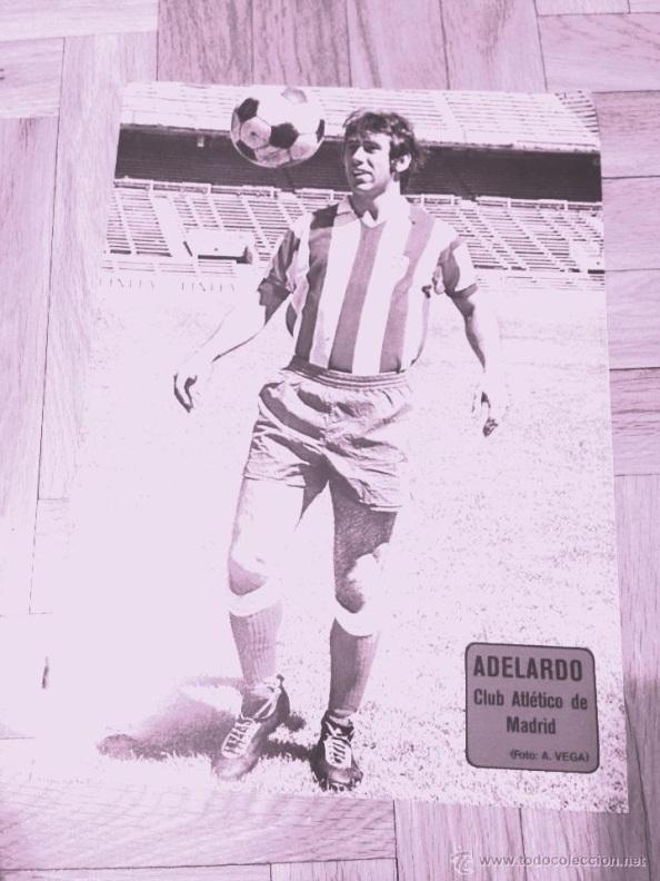 Abelardo, el jugador del Atlético de Madrid, preferido por el maestro Andrés Sarrías. Fuente: