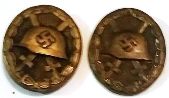 Las dos medallas que le fueron concedidas por el Gobierno alemán de Adolfo Hitler a Fernando Carrión