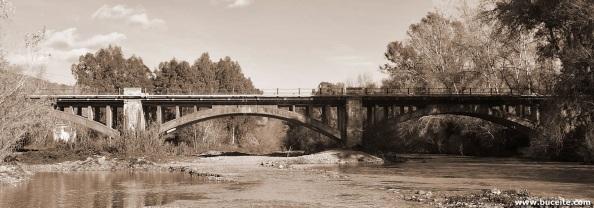 Puente sobre el río Guadiaro a la salida de San Pablo de Buceite en dirección a Ronda. Constrida por los batallones de presos republicanos dentro del plan comarcal para una posible ataque a Gibraltar a la vez que para la defensa de un desembarco