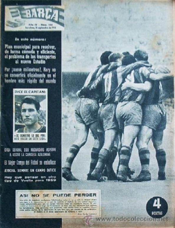 Los periódicos que procedentes de Barcelona estaban a disposición de los clientes y aficionados al fútbol en la barbería del maestro Juan Sánchez. Fuente