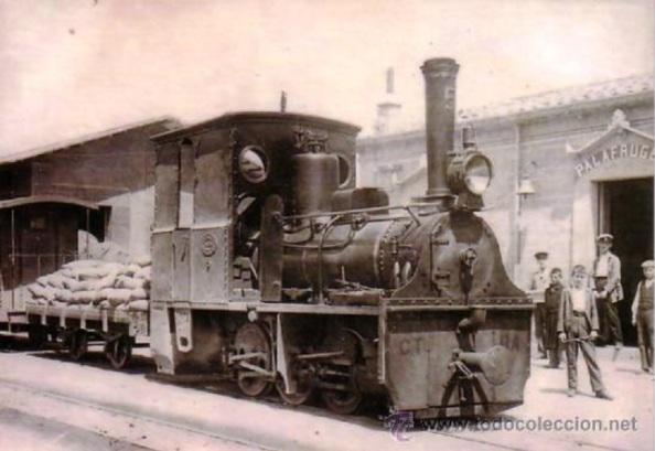 Estación de tren de Parafugall, donde llegaba el corcho en tren mercancia procedente de la Estación de los Ángeles de Jimena. Foto: Todo clección.