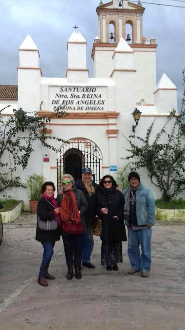 En el Convento de nuestra Señora de los Ángeles. Carmen María Lastres, rosario, maría José Mata Lastres, Ignacio Trillo Huertas