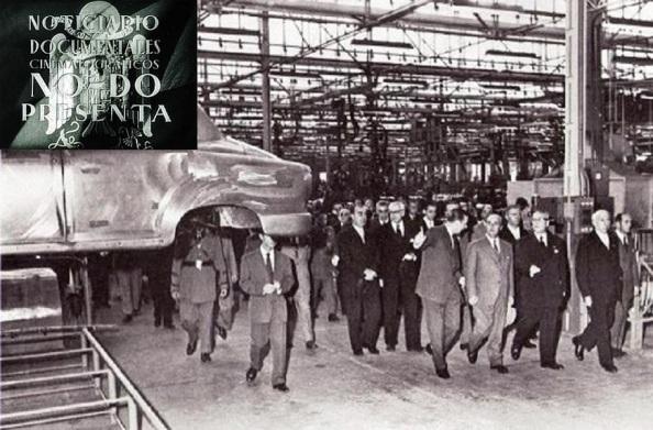 Inauguración por Franco de la planta de la SEAT en Martorell (barcelona) Octubre de 1955. Fuente Google.