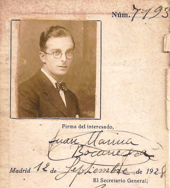 JUAN MARINA BOCANEGRA EN 1928 JIMENA