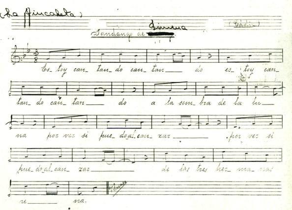 notas musicales de la jincaleta