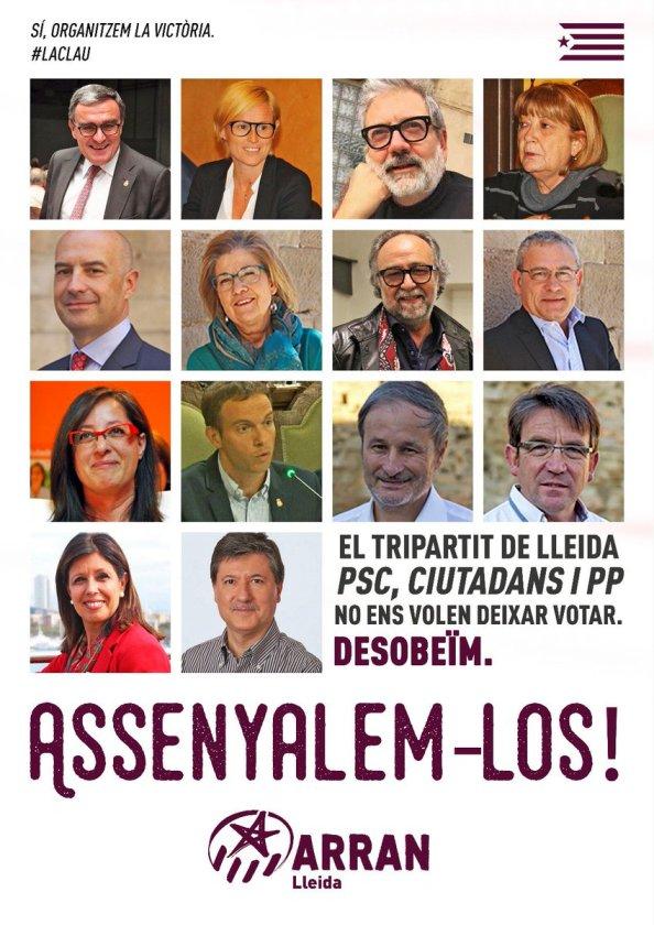 Alcaldes del psc, pp y cs en cataluña