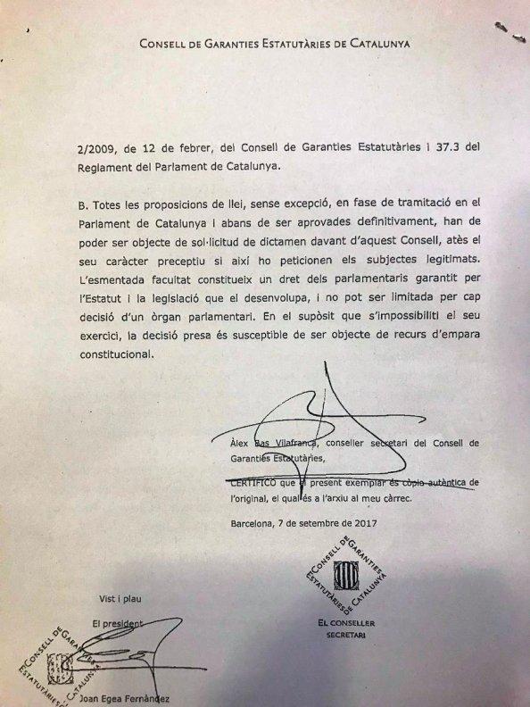 consell de garantías cataluña