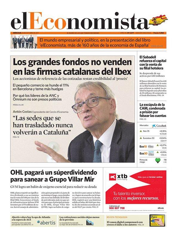el economista 18.10.2017 cataluña