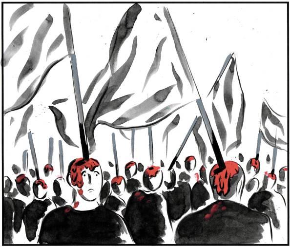 el roto banderillas cataluña
