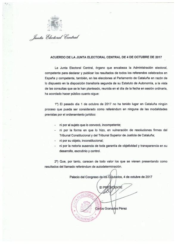 junta electoral central cataluña