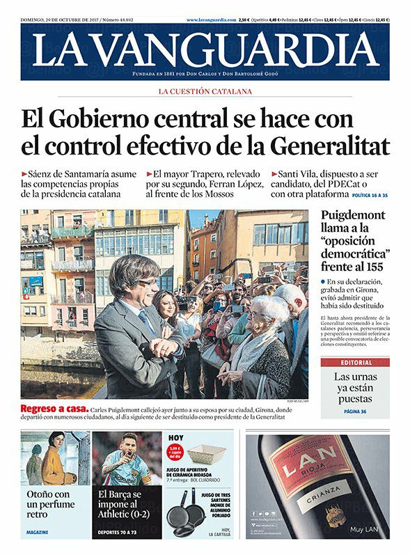 la vanguardia de cat 29.10.2017