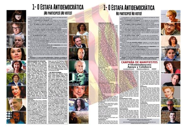 manifiesto de izquierda de Cataluña