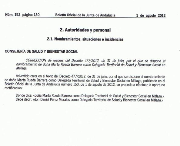 Marta Rueda por corrección de errores