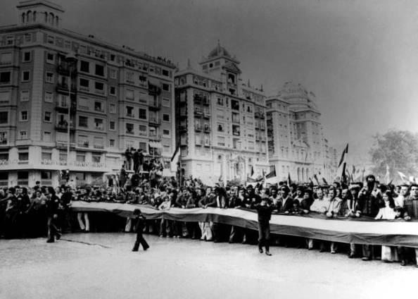 4 de diciembre cabecera de la manifestación