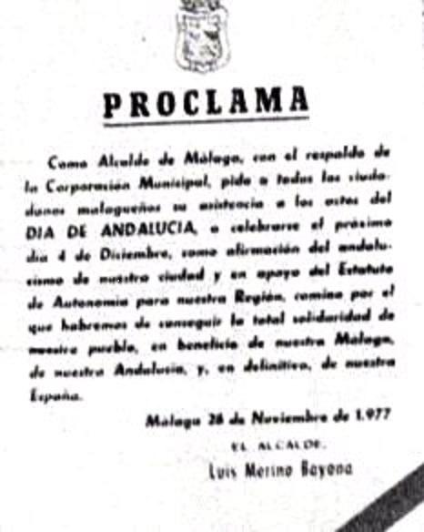 4 de diciembre proclama del ayuntamiento de málaga grande