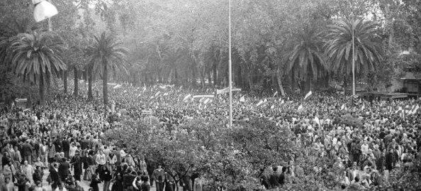 4 diciembre 1977 málaga parque masa manifestante