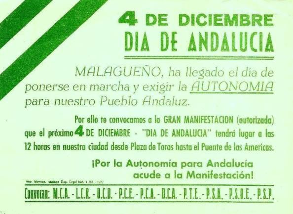 convocatoria 4 diciembre Málaga