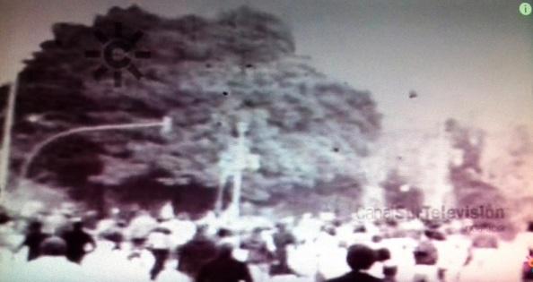 gentes huyendo por el parque 4 de diciembre
