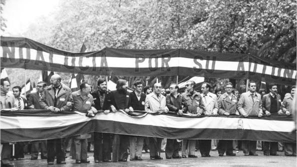 manifestación 4 de diciembre cabecera por el parque málaga