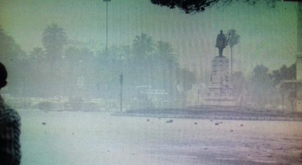 monumento larios solitrio humo