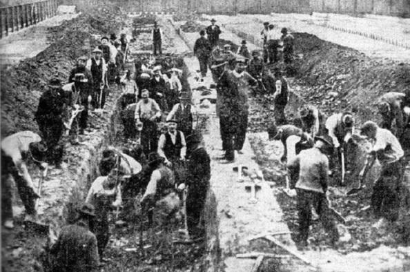Trabajadores Ayuntamiento comunes victimas Filadelfia gripe 1918