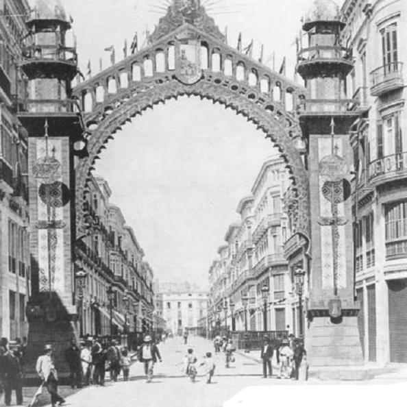 ARCO INAUGURACION calle larios 1891