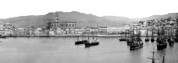 Puerto de Málaga Jean Laurent 1866