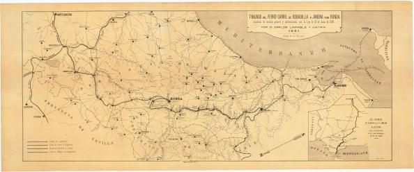 Trenl Bobadilla Jimena Ronda declarado de servicio general y subvencionado por la Ley de 12 de Junio de 1880